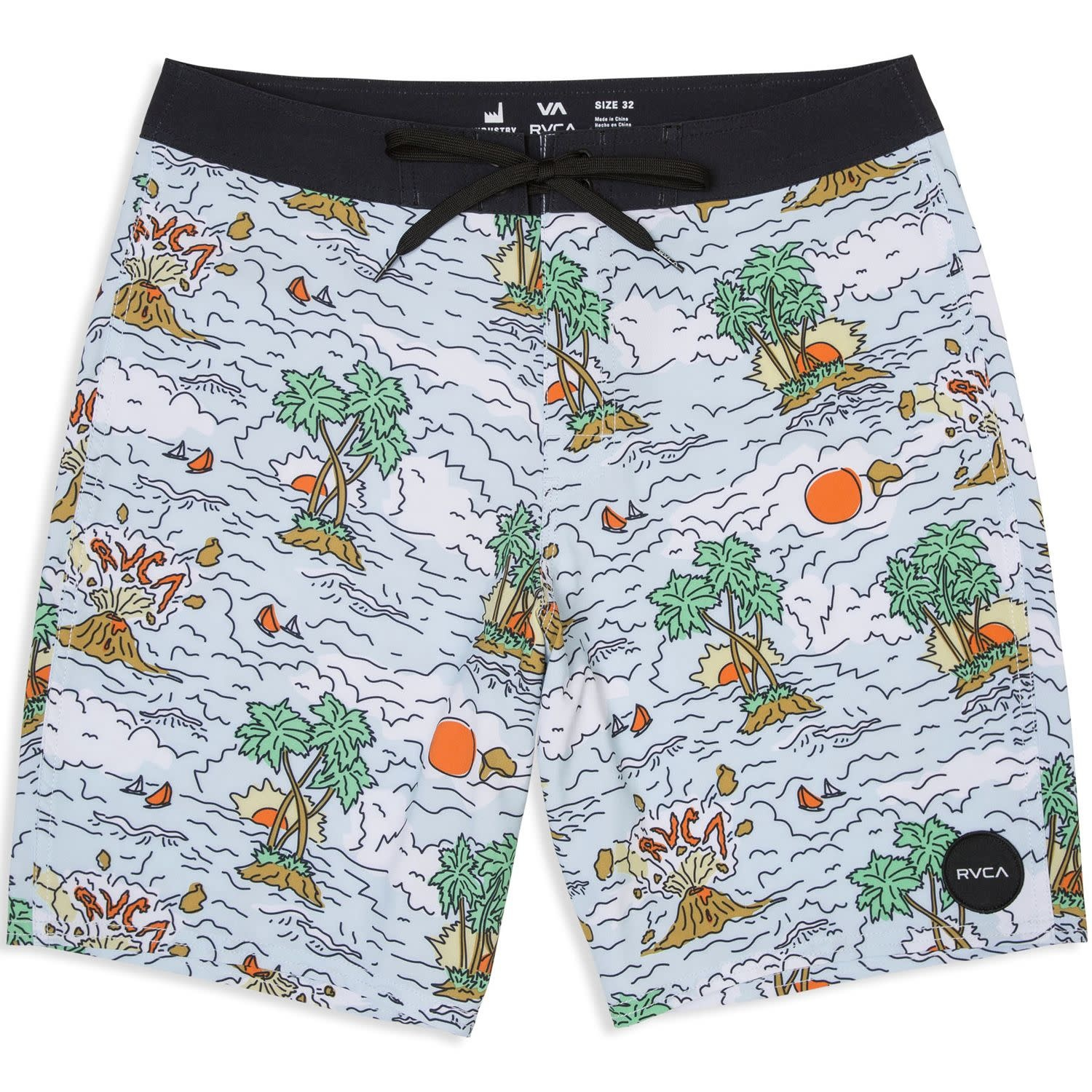 RVCA VA Trunk Print Blue
