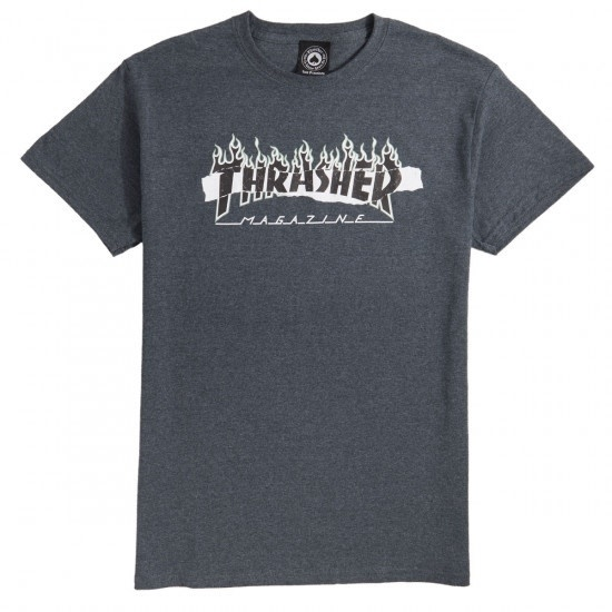 Thrasher Mag. Ripped Tee Dark Heather XL