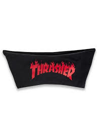 Thrasher Mag. Flame Hot Logo Shorts Black