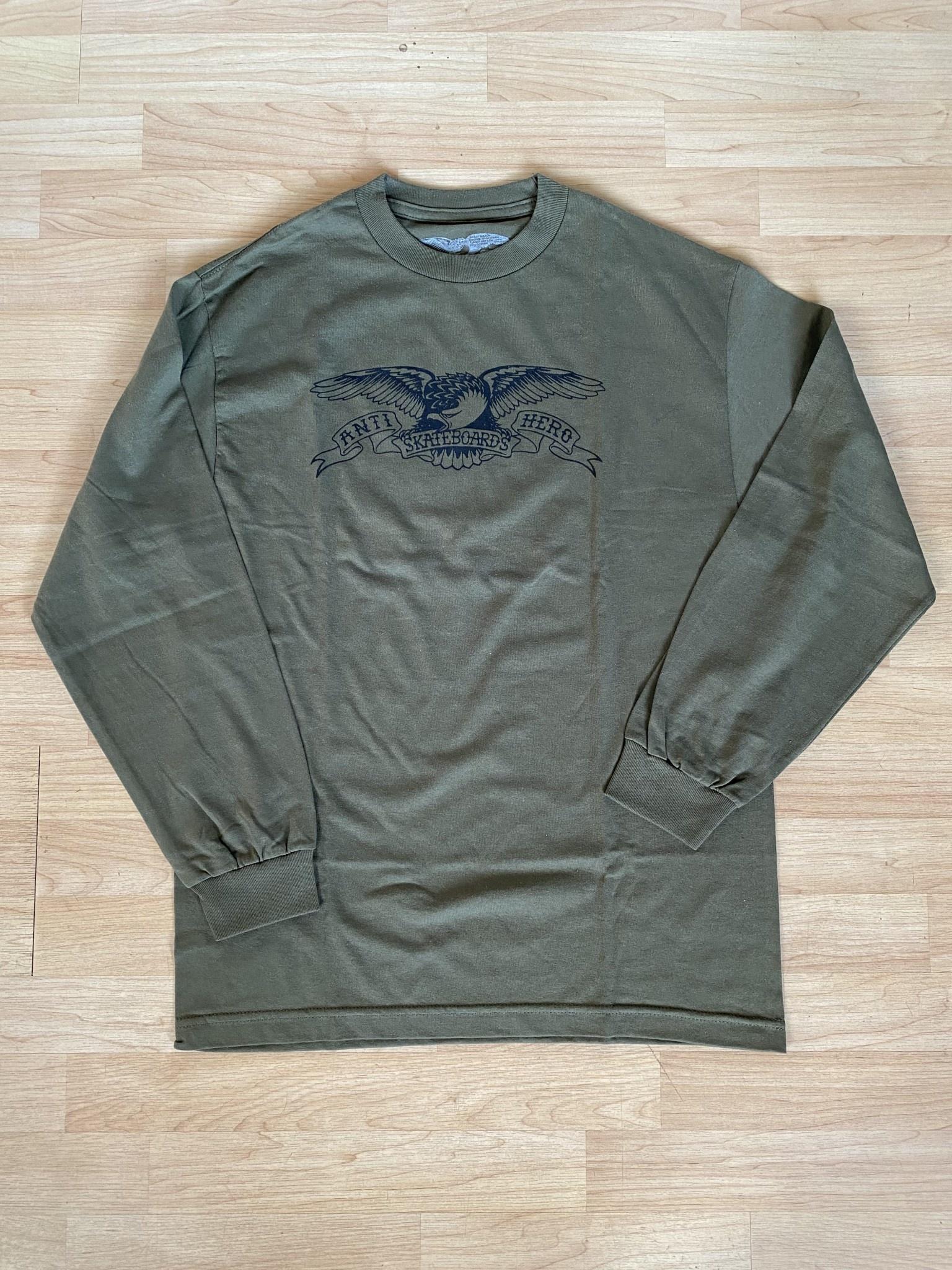 Anti Hero Basic Eagle Military Green L/S M