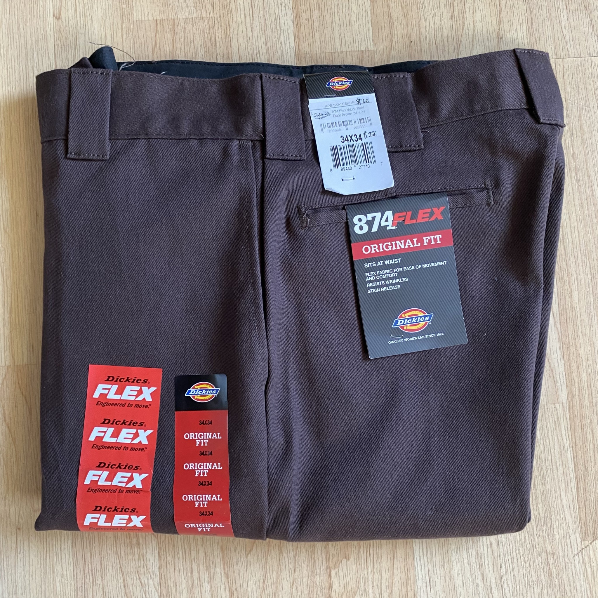 Dickies 874 Flex Work Pant Dark Brown