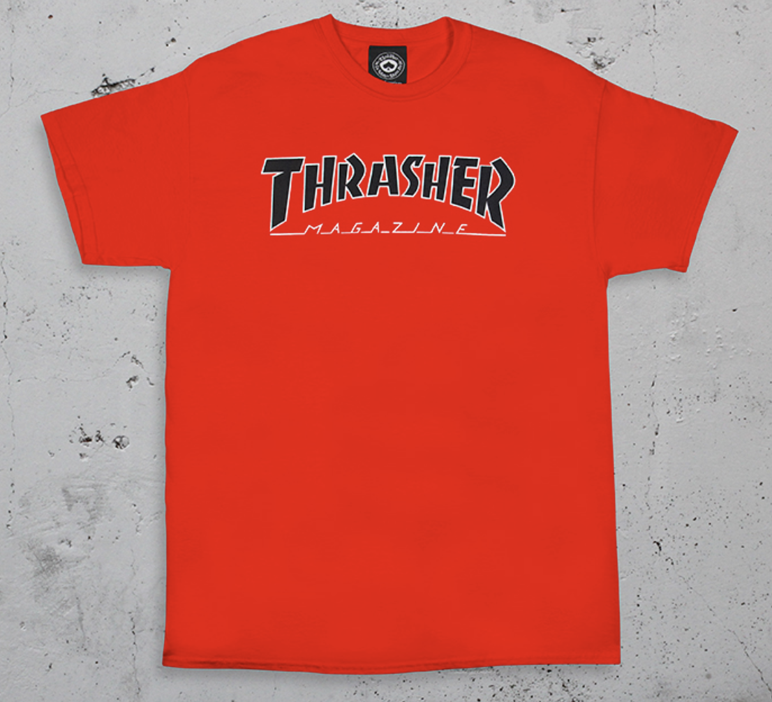 Thrasher Mag. Outlined Red Tee