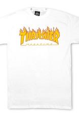 Thrasher Mag. Flame Logo White Tee