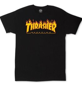 Thrasher Mag. Flame Logo Black Tee