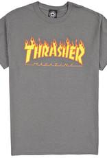 Thrasher Mag. Flame Logo Charcoal Tee