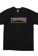 Thrasher Mag. Outlined Black/Purple Tee