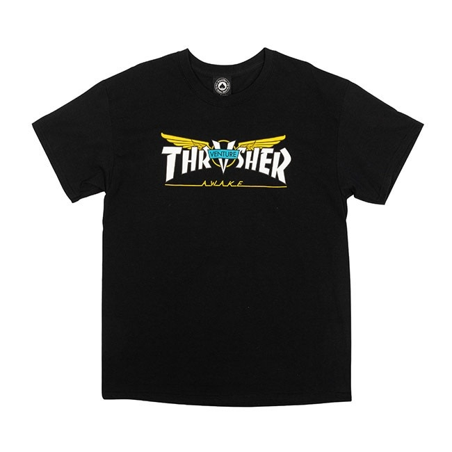 Thrasher Mag. Thrasher Venture Collab Black Tee