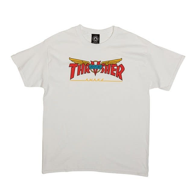 Thrasher Mag. Thrasher Venture Collab White Tee