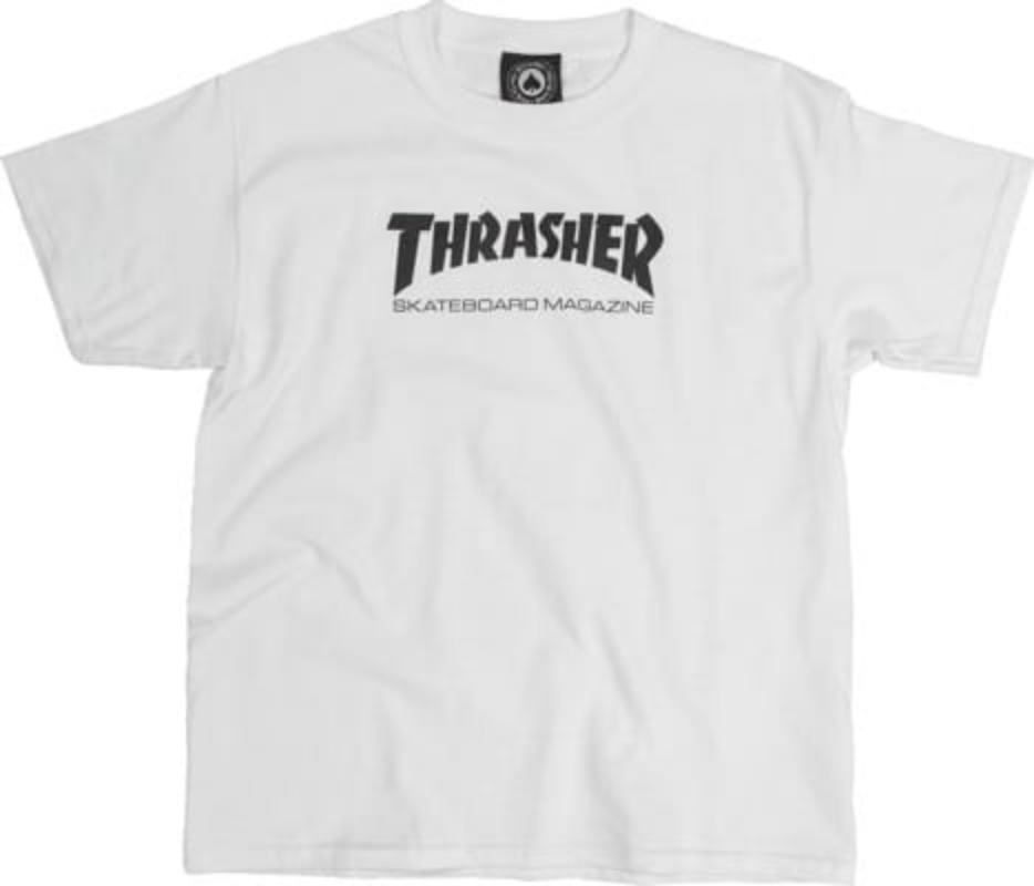 Thrasher Mag. Youth Skate Mag Tee White