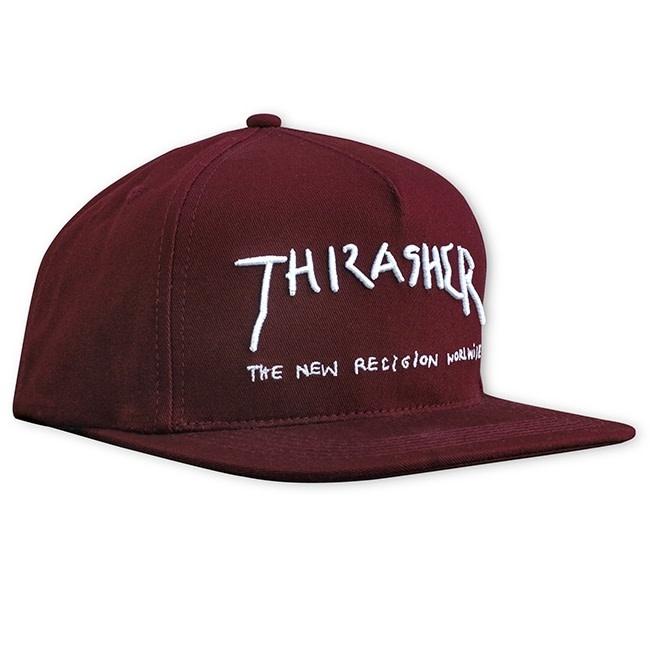 Thrasher Mag. New Religion Snapback Maroon
