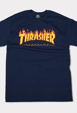 Thrasher Mag. Flame Logo Navy Tee