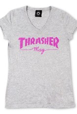 Thrasher Mag. Mag Logo Grey V-Neck