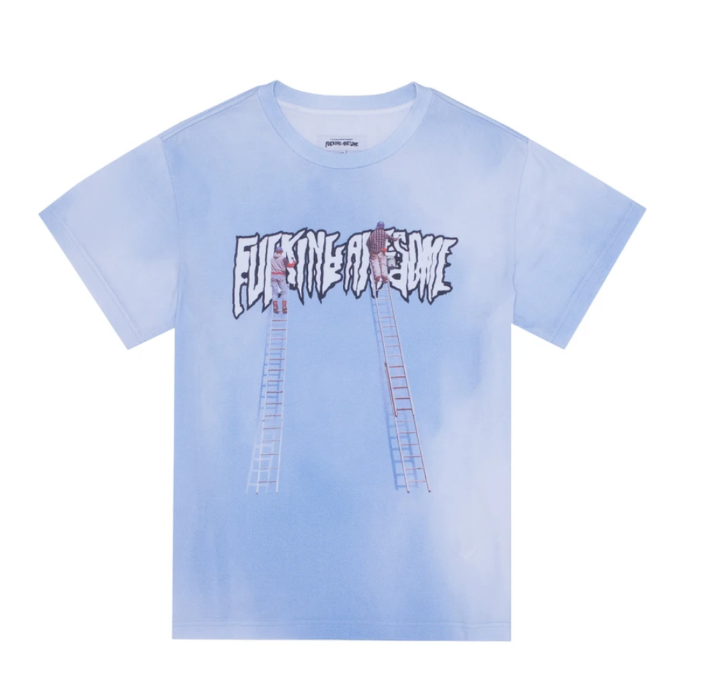 Fucking Awesome Painters Tee Blue