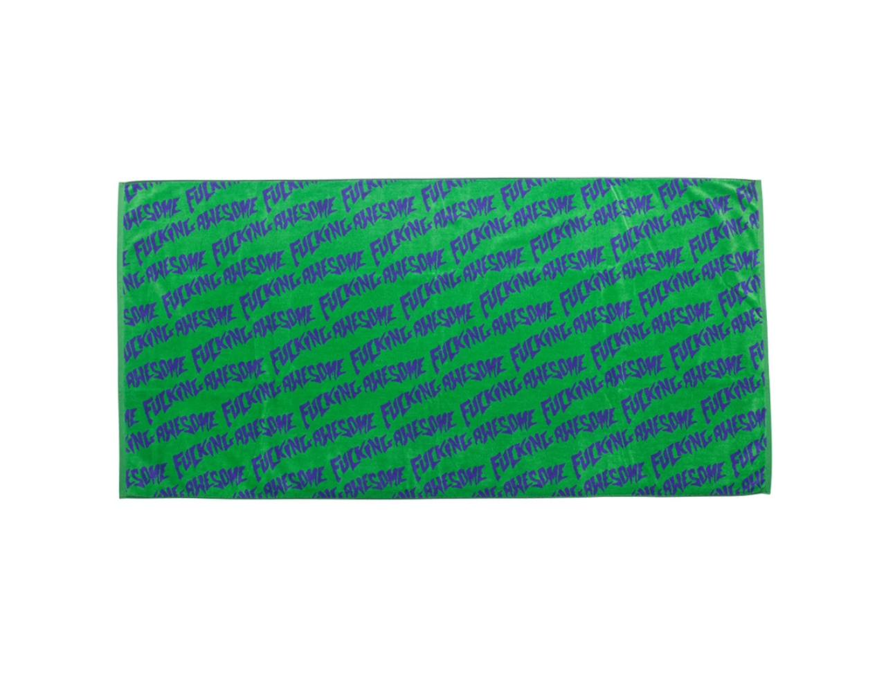 Fucking Awesome Fucking Awesome Towel Dark Lime/Purple