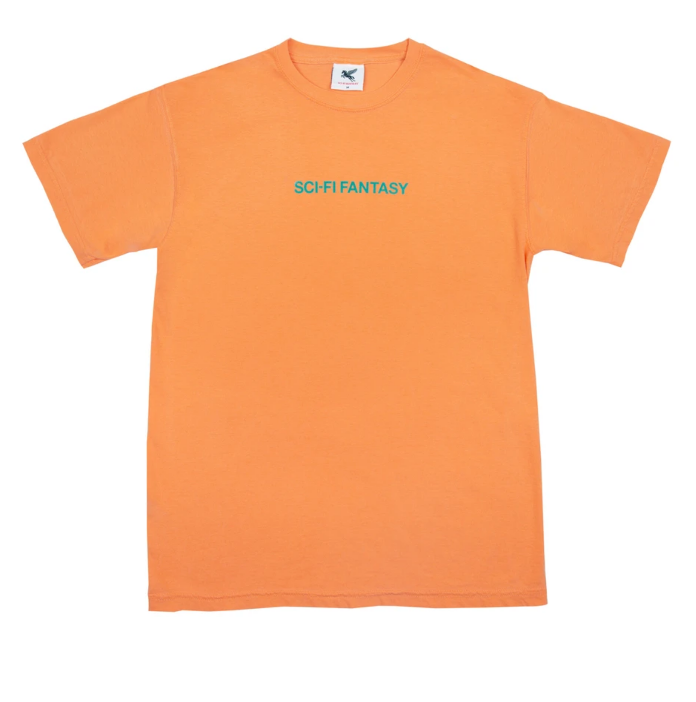 Sci-Fi Fantasy Helvetica Tee Dark Orange