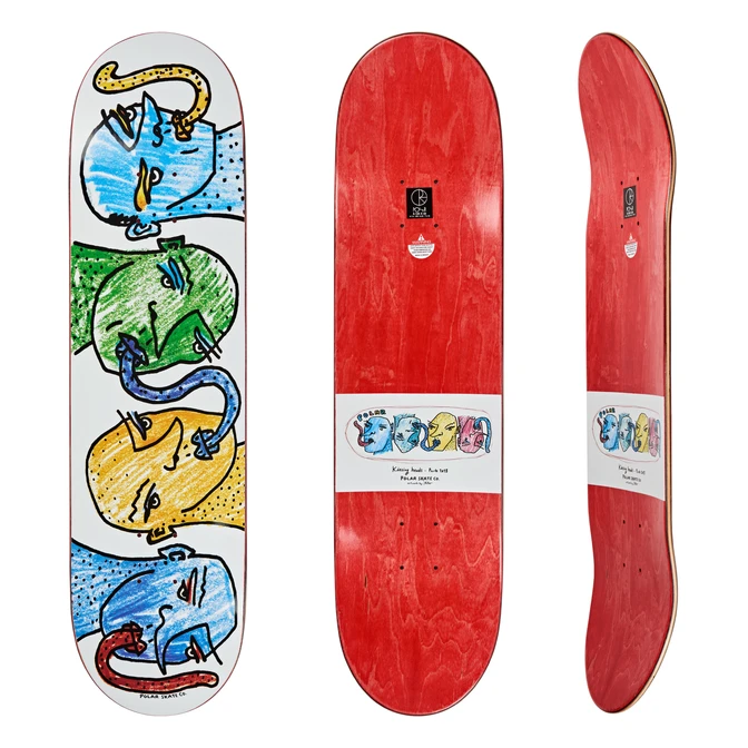 """Polar Skate Co. Kissing Heads 8.125"""""""