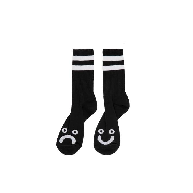 Polar Skate Co. Happy Sad Socks Black 39/42