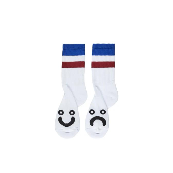 Polar Skate Co. Happy Sad Socks Stripes Blue