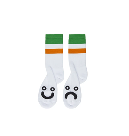 Polar Skate Co. Happy Sad Socks Stripes Green
