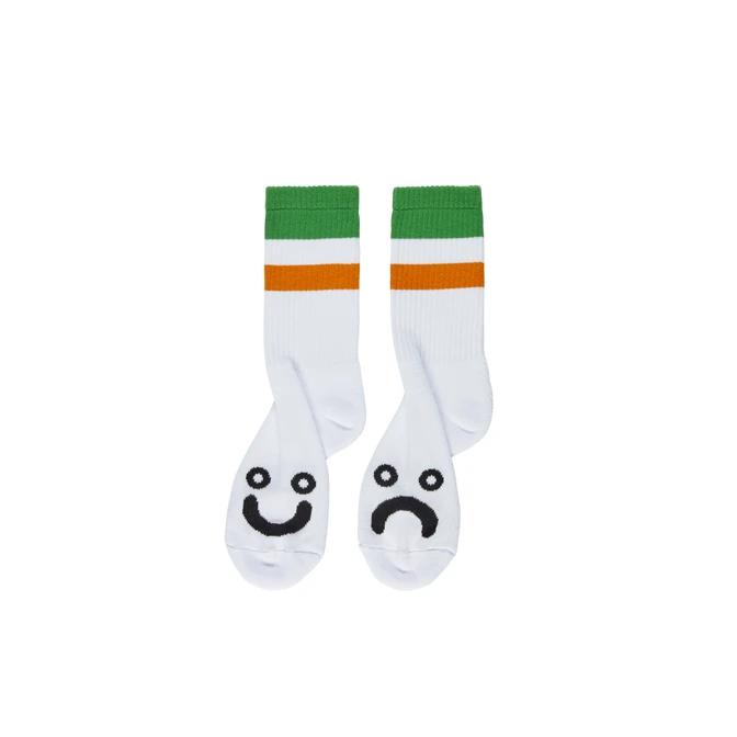 Polar Skate Co. Happy Sad Socks Stripes Green