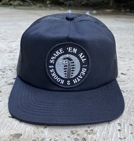 APB Skateshop Snake Em All Trucker Hat Black/Black