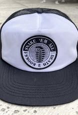 APB Skateshop Snake Em All Trucker Hat Black/White