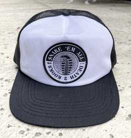 APB Skateshop Snake Em All Trucker Hat Black/White
