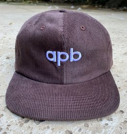 APB Skateshop APB Logo 6-Panel Brown Corduroy