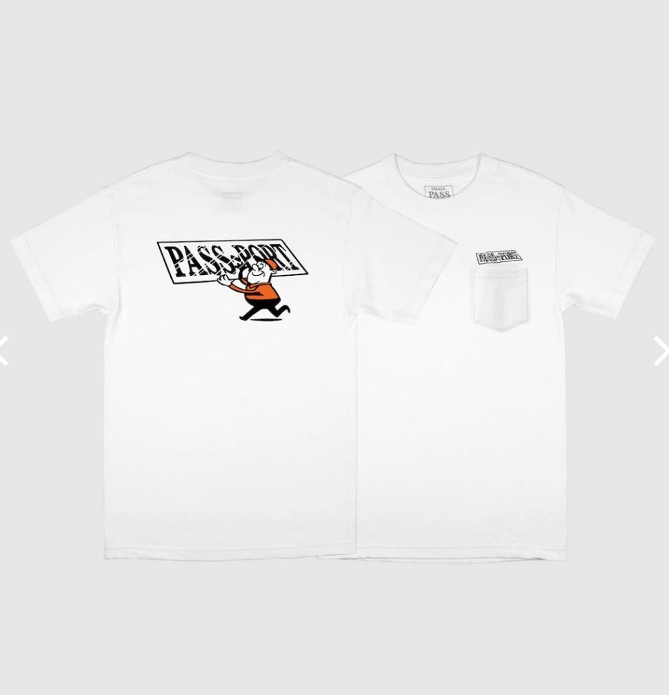 Pass~Port Mirror Man White Tee