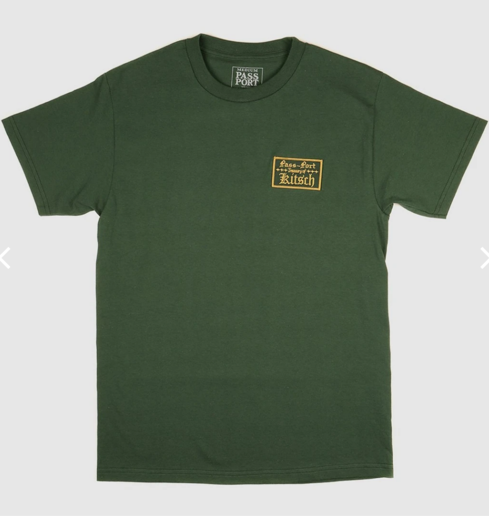 Pass~Port Treasury Patch Forest Green Tee