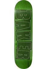 """Baker Skateboards AR Brand Name Stroke Lime 8.0"""""""