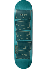 """Baker Skateboards BH Brand Name Stroke Aqua 8.5"""""""