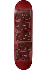 "Baker Skateboards TP Brand Name Stroke Red 8.125"""
