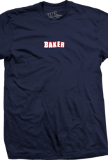 Baker Skateboards Brand Logo Navy/Red Tee