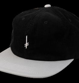 Deathwish Skateboards Gang Logo Black Corduroy Snapback