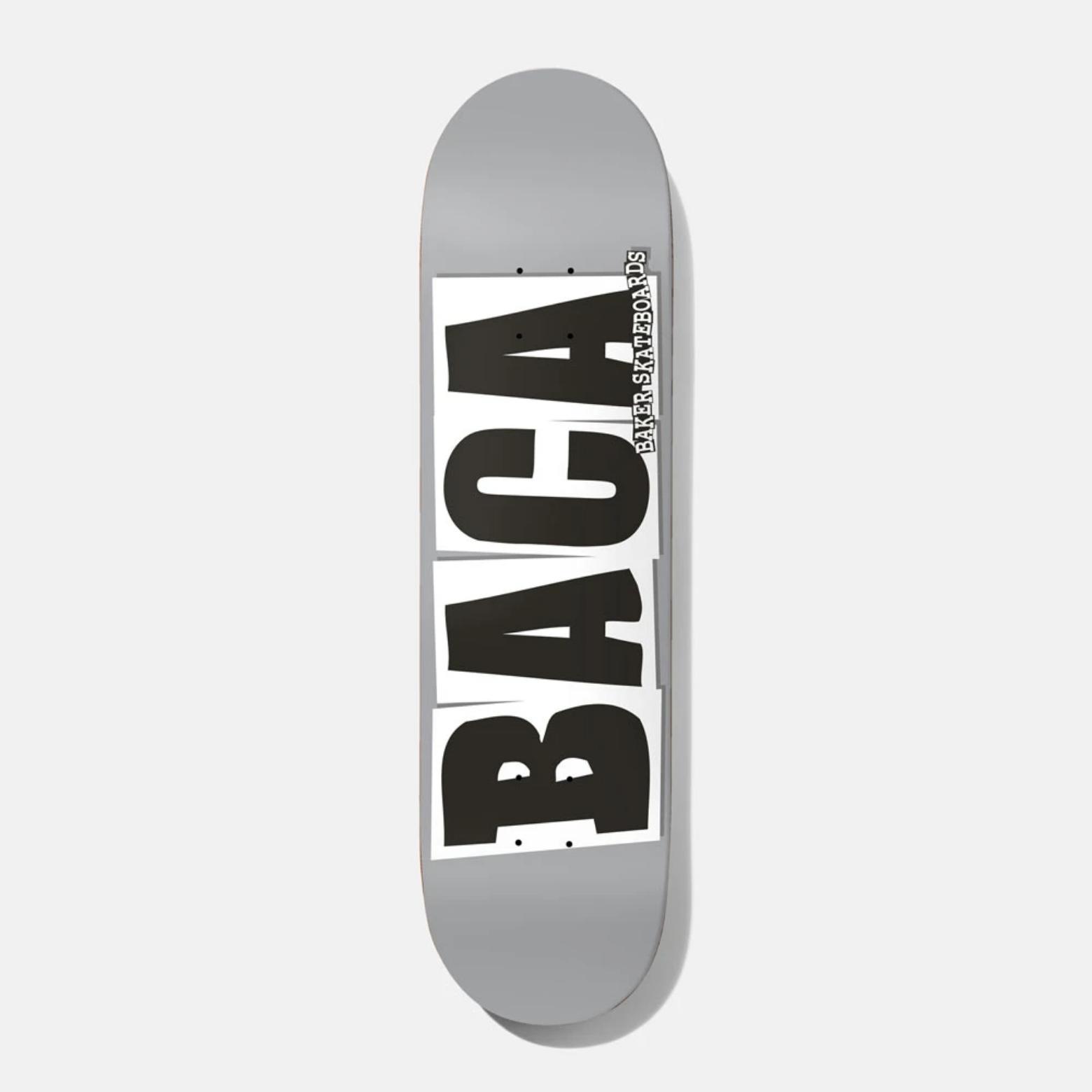 "Baker Skateboards SB Baca Logo Grey 8.5"""