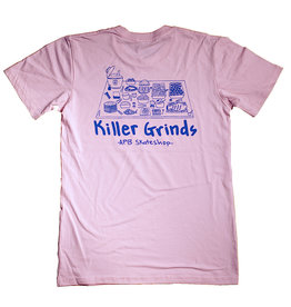 APB Skateshop APB Killer Grinds Tee Pink w/ Blue