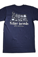 APB Skateshop APB Killer Grinds Tee Indigo w/ White