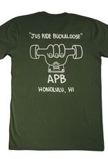 APB Skateshop APB Buckaloose Tee Forest w/ White