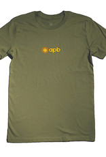APB Skateshop APB 90's Logo Tee Army w/ Orange