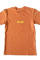APB Skateshop APB 90's Logo Tee Orange w/ Yellow