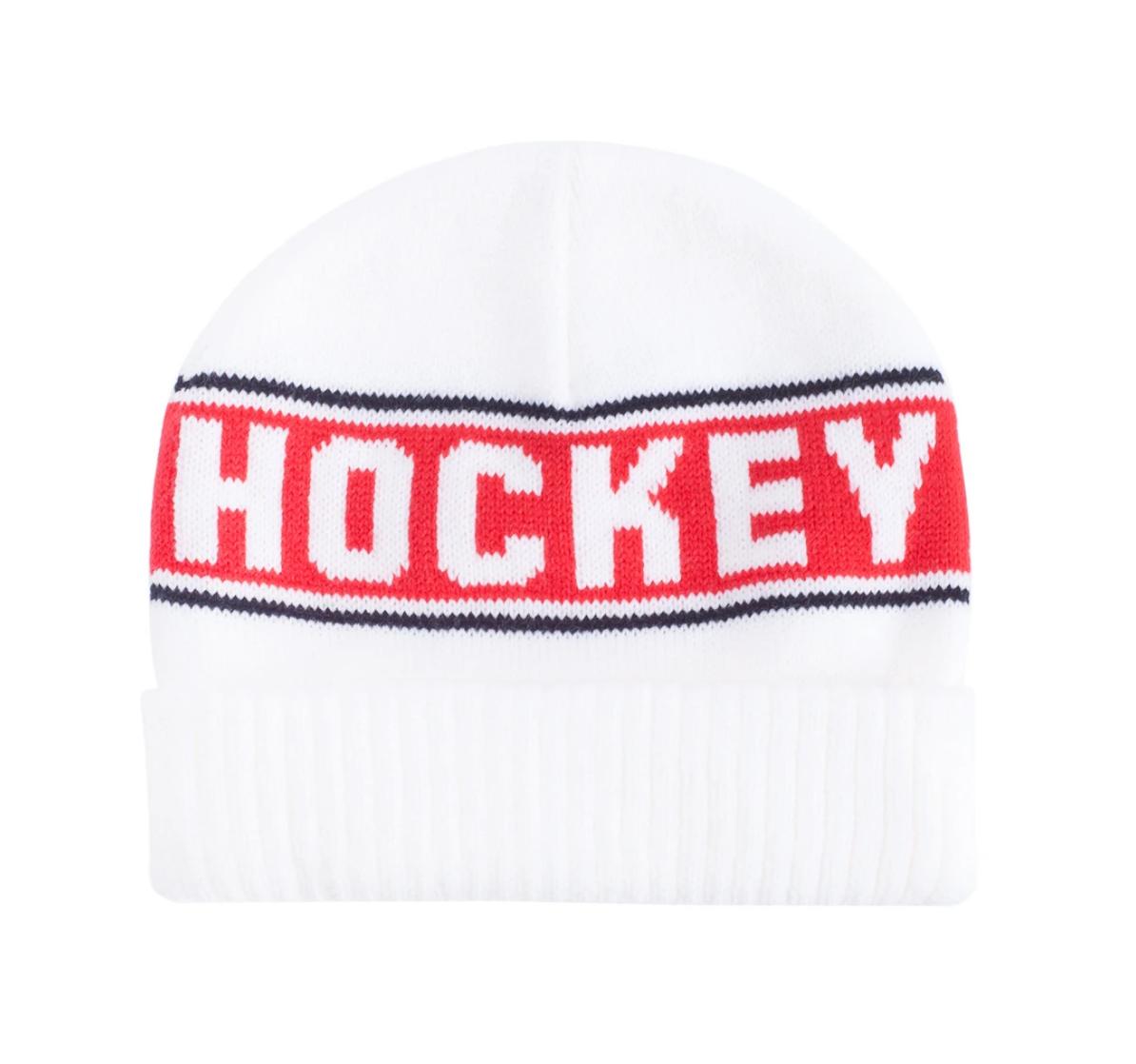 Hockey Hockey Stripe Beanie White