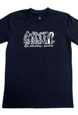 APB Skateshop APB Gonz Gang Tee Black w/ White