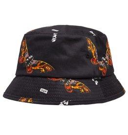 HUF Mothra Bucket Hat Black S/M
