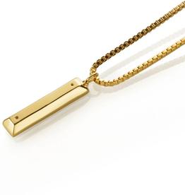El Senor Parking Block Pendant Gold Plated Necklace