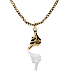 El Senor Shaka Pendant Gold Plated Necklace