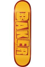 """Baker Skateboards KS Brand Name Yellow/Red 7.875"""""""