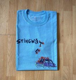 Stingwater Self-Driving Car Aqua Blue Tee