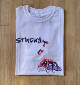 Stingwater Self-Driving Car White Tee