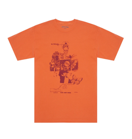 Fucking Awesome Physical Astral Tee Burnt Orange Pigmant Dyed